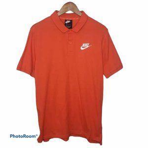Nike JSY Matchup Polo Shirt Sz L Solid Orange
